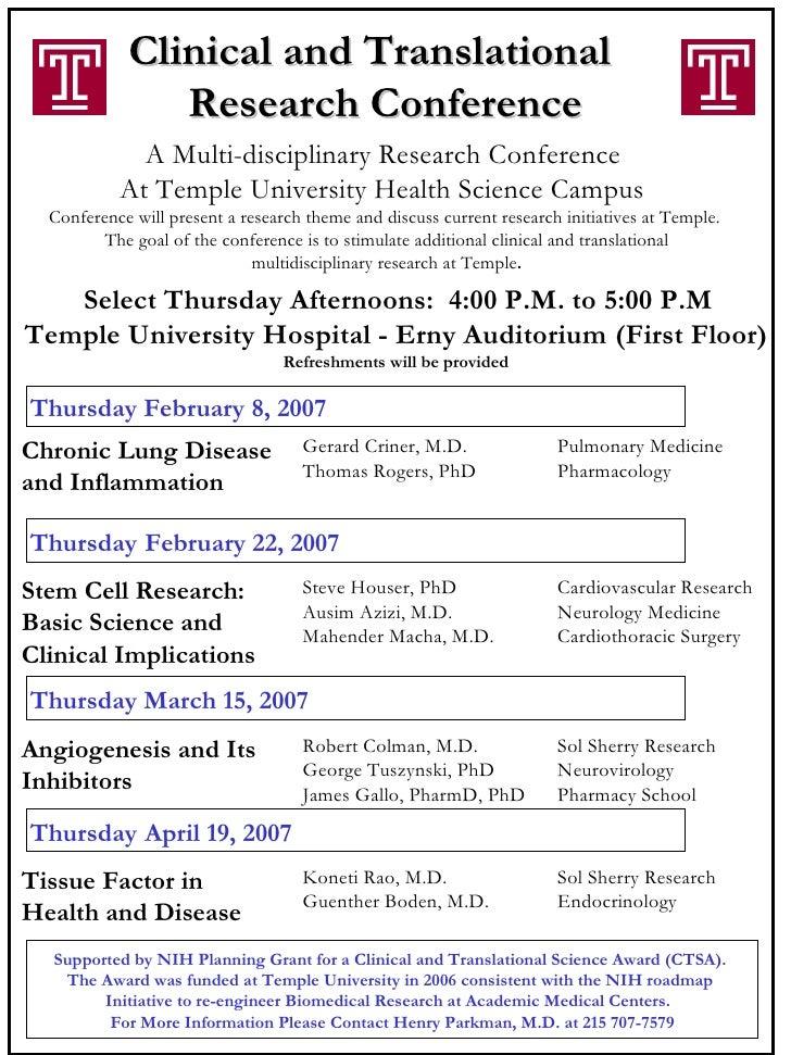 Ctsa Award Conference Schedule Lettersize1 16 07