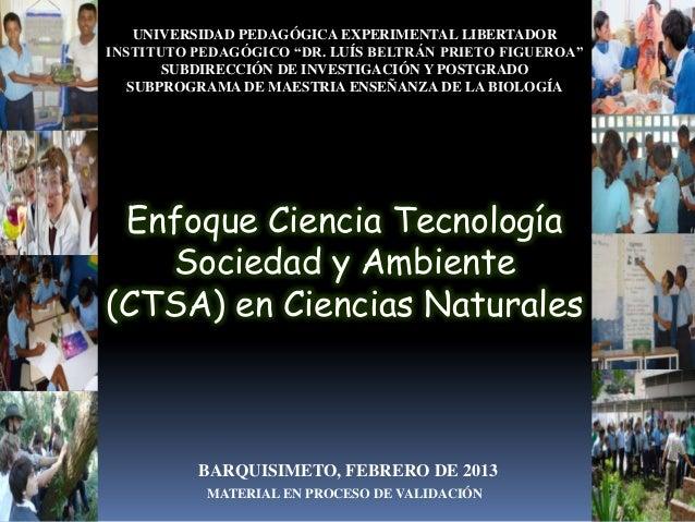 Ctsa en ciencias naturales