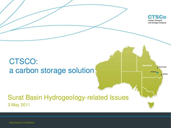 CTSCO a Carbon Storage Solution - Surat Basin Hydrogeology - related issues