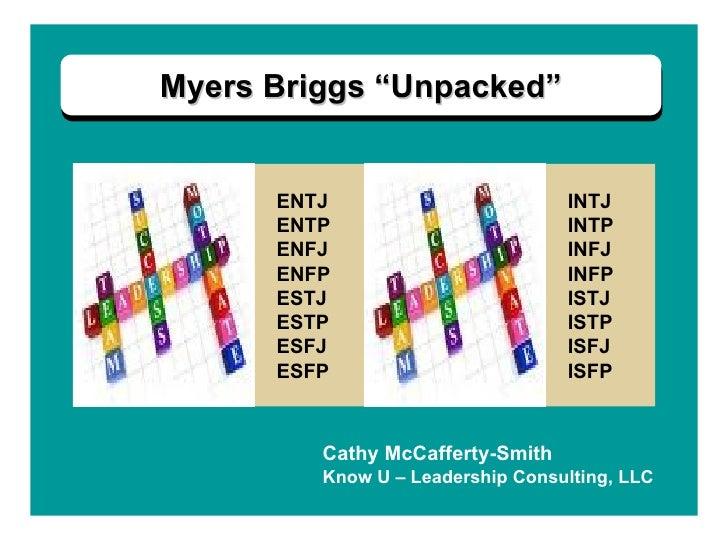 "Myers Briggs ""Unpacked"" ENTJ ENTP ENFJ ENFP ESTJ ESTP ESFJ ESFP INTJ INTP INFJ INFP ISTJ ISTP ISFJ ISFP Cathy McCafferty-S..."