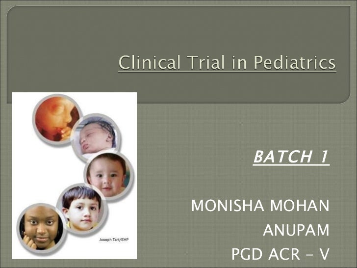 Clinical trial in special population final