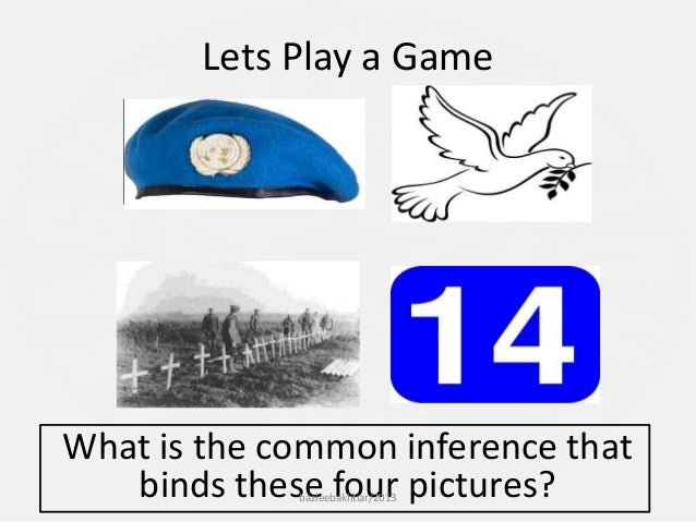 Lets Play a Game What is the common inference that binds these four pictures?bazleebakhtiar/2013