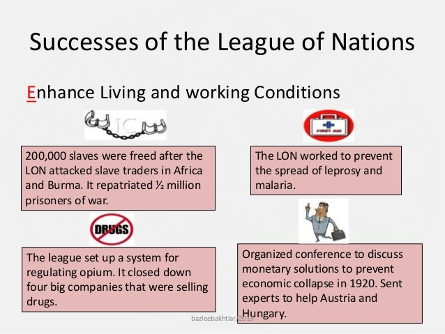 was the league of nations successful in the 1920s