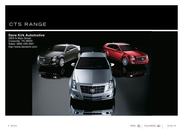 2011 Cadillac CTS Sportwagon – Dave Kirk Automotive Crossville, TN