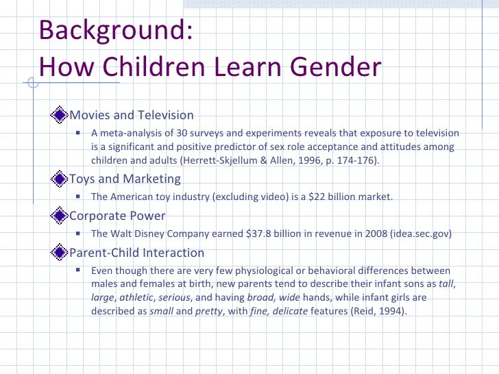 "analysis of gender in childrens television Tag archives: ""gender stereotypes in advertising on children's television in the  1990s: a cross-national analysis"" apr6."