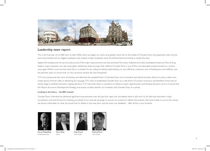 Leadership team report                                           This is the final year of our BID term. In April 2006, wh...