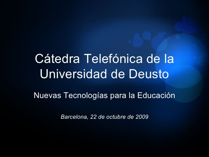 I Jornada de La Red de Cátedras Telefónica