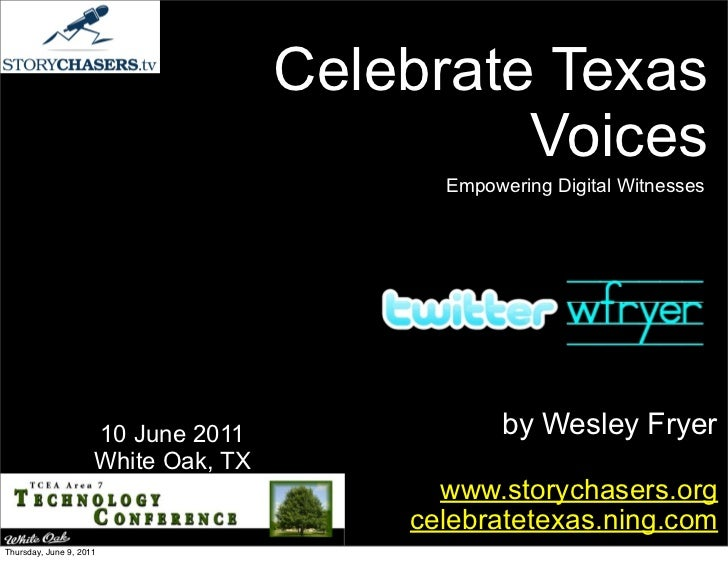Celebrate Texas Voices: Empowering Digital Witnesses