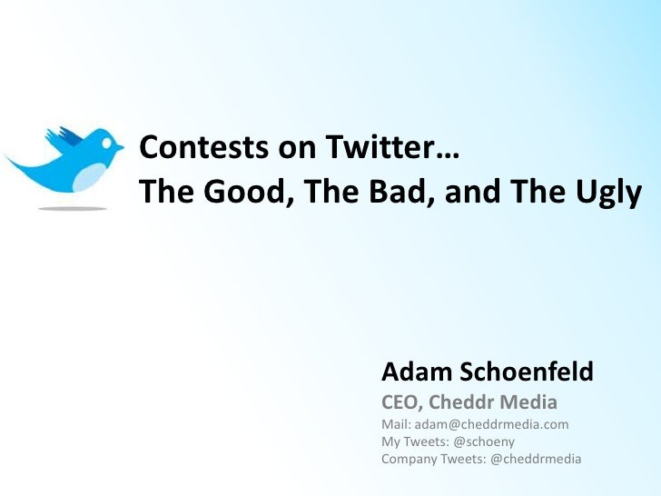 Contests and Twitter: The Good, The Bad, and The Ugly