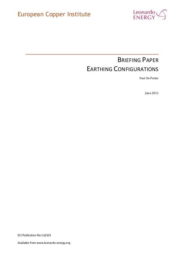 Earthing Configurations