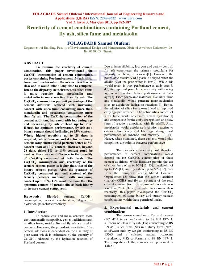 FOLAGBADE Samuel Olufemi / International Journal of Engineering Research andApplications (IJERA) ISSN: 2248-9622 www.ijera...