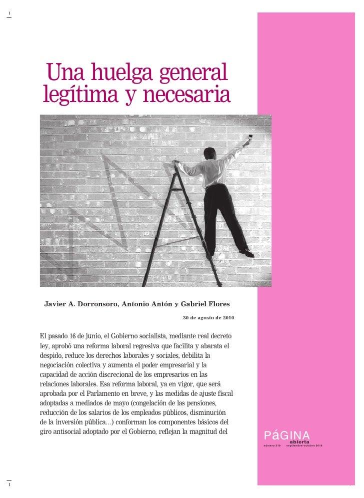 Una huelga general legítima y necesaria pdf