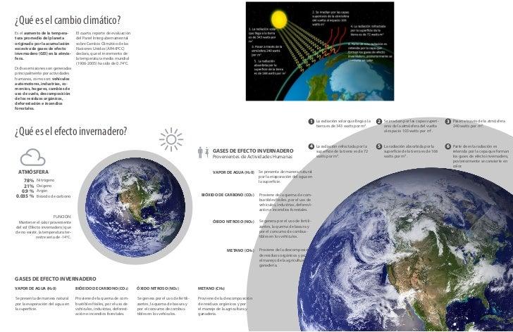 ¿Qué es el cambio climático?Es el aumento de la tempera-          El cuarto reporte de evaluacióntura promedio del planeta...