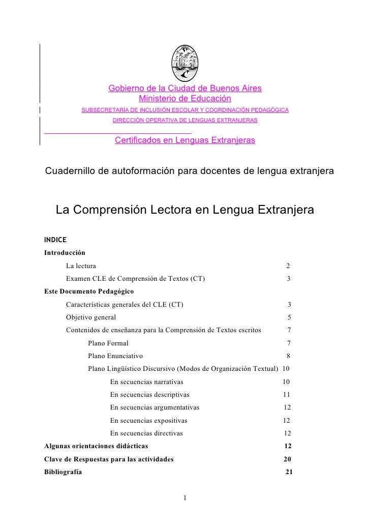 Gobierno de la Ciudad de Buenos Aires                             Ministerio de Educación            SUBSECRETARÍA DE INCL...