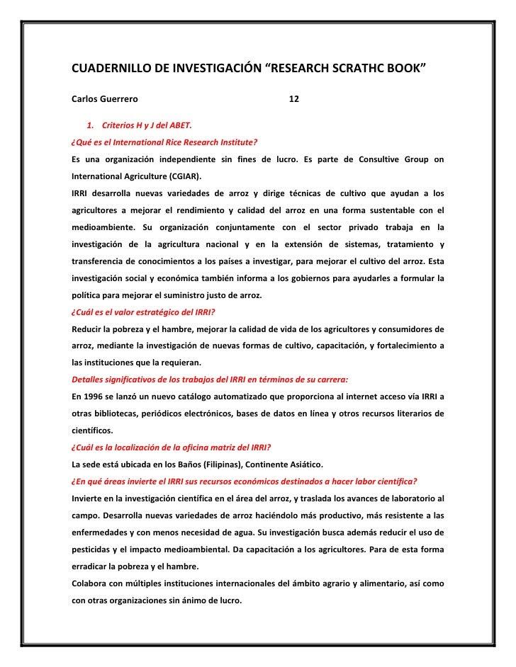 """CUADERNILLODEINVESTIGACIÓN""""RESEARCHSCRATHCBOOK""""CarlosGuerrero..."""