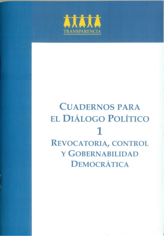 4 Cuadernos para el Diálogo Político Asociación Civil TRANSPARENCIA Av. Belén 389, San Isidro – Lima www.transparencia.org...