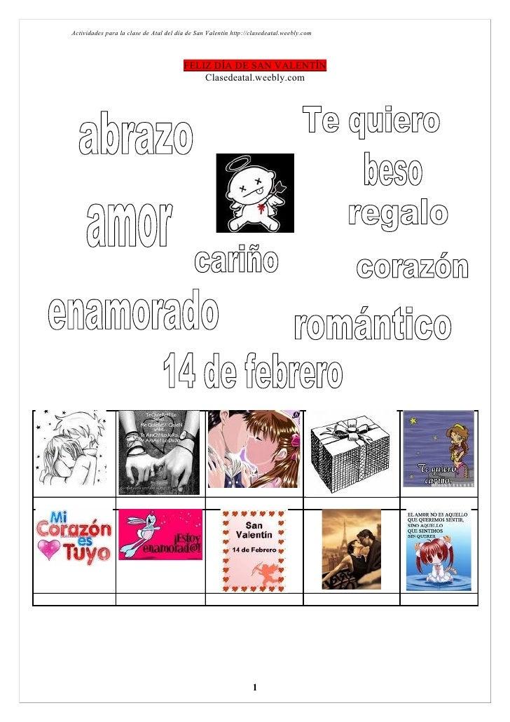 Actividades para la clase de Atal del día de San Valentín http://clasedeatal.weebly.com                                   ...