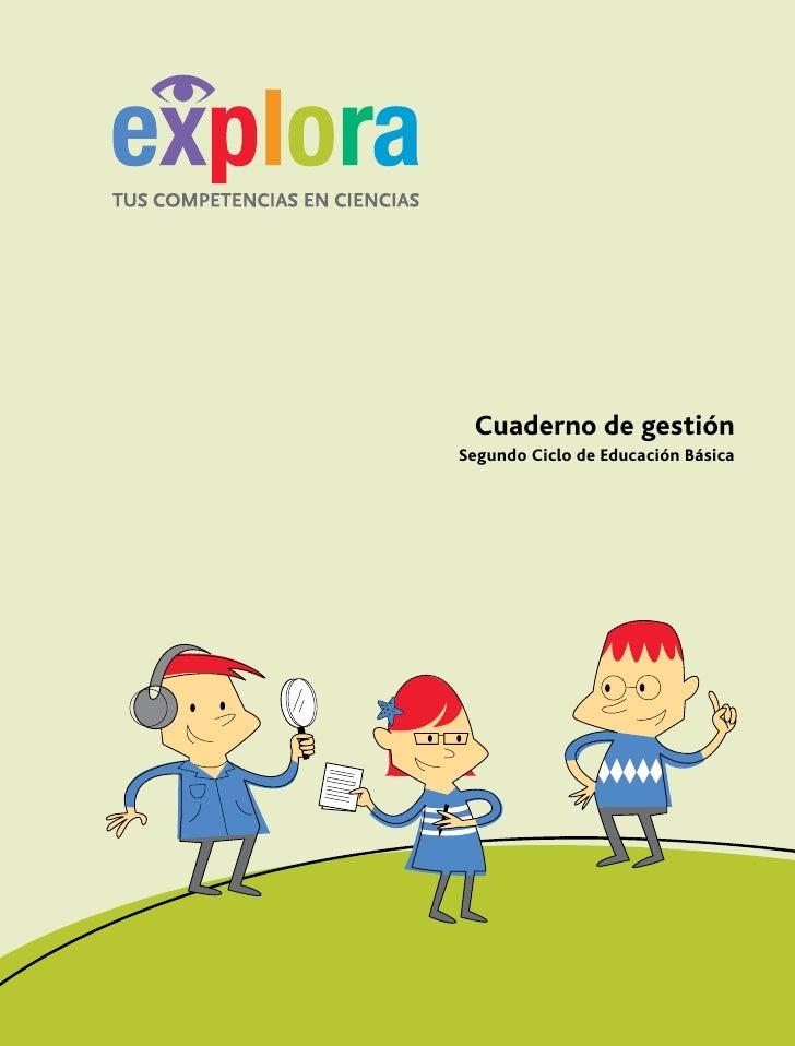Cuaderno de gestión                  Segundo Ciclo de Educación Básica     Cuaderno de Gestión