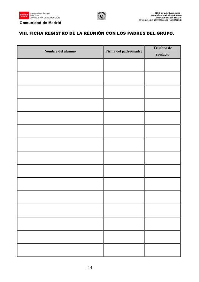 Cuaderno del tutor - Telefono registro bienes muebles madrid ...