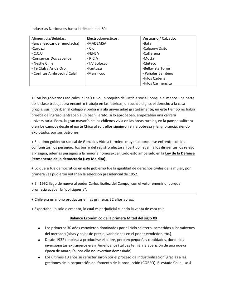 Industrias Nacionales hasta la década del '60:Alimenticia/Bebidas:               Electrodomesticos:                  Vestu...