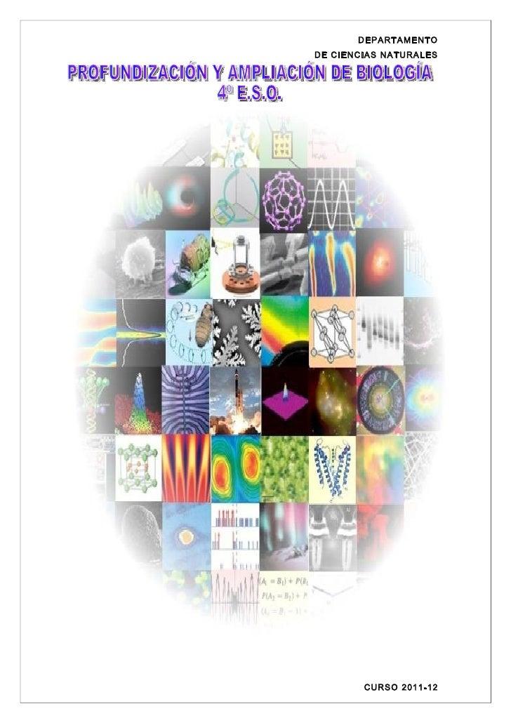 DEPARTAMENTODE CIENCIAS NATURALES        CURSO 2011-12