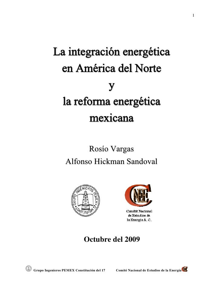Cuaderno La Integracion Energetica Y La Reforma En Mexico