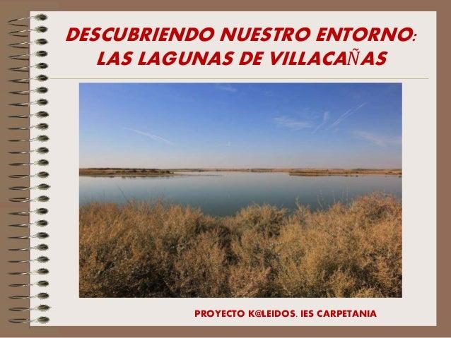 DESCUBRIENDO NUESTRO ENTORNO: LAS LAGUNAS DE VILLACAÑAS PROYECTO K@LEIDOS. IES CARPETANIA