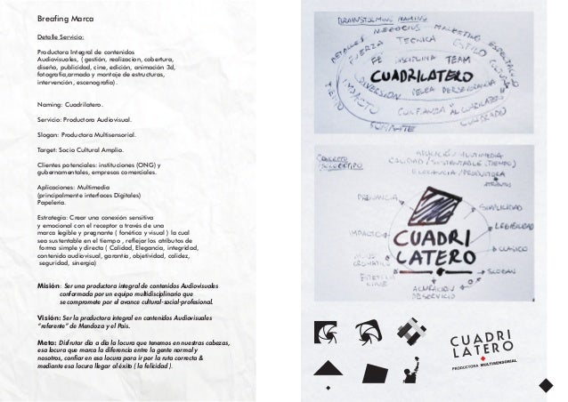 Breafing Marca Detalle Servicio: Productora Integral de contenidos Audiovisuales, ( gestión, realizacion, cobertura, diseñ...