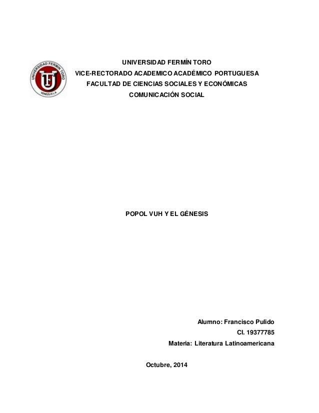 UNIVERSIDAD FERMÍN TORO  VICE-RECTORADO ACADEMICO ACADÉMICO PORTUGUESA  FACULTAD DE CIENCIAS SOCIALES Y ECONÓMICAS  COMUNI...