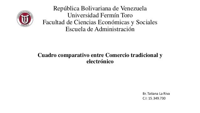 República Bolivariana de Venezuela  Universidad Fermín Toro  Facultad de Ciencias Económicas y Sociales  Escuela de Admini...