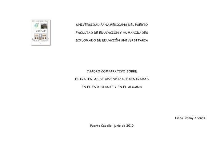 610845-108585UNIVERSIDAD PANAMERICANA DEL PUERTO<br />FACULTAD DE EDUCACIÓN Y HUMANIDADES<br />DIPLOMADO DE EDUACIÓN UNIVE...