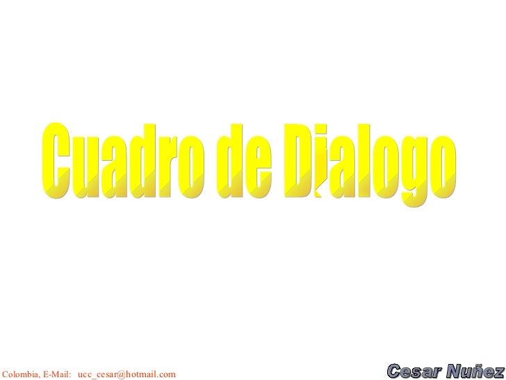 Cuadro de Dialogo