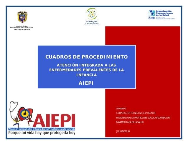 Cuadros de procedimiento  AIEPI 2010 MINISTERIO DE PROTECCIÓN SOCIAL