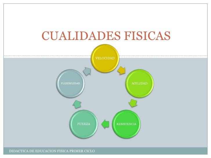 CUALIDADES FISICAS DIDACTICA DE EDUCACION FISICA PRIMER CICLO
