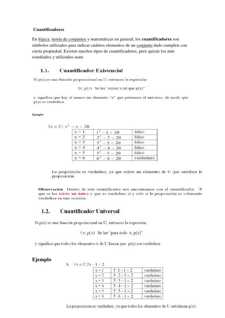 Cuantificadores<br />-1308101005840En lógica, teoría de conjuntos y matemáticas en general, los cuantificadores son símbo...