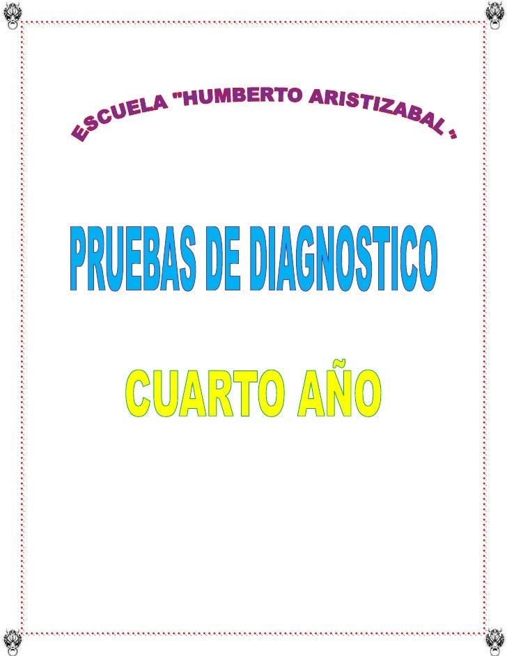 """ESCUELA """"HUMBERTO ARISTIZABAL""""<br />PRUEBAS DE DIAGNOSTICO DE ENTORNO NATURAL Y SOCIAL<br />Nombre:………………………………………….<br />..."""