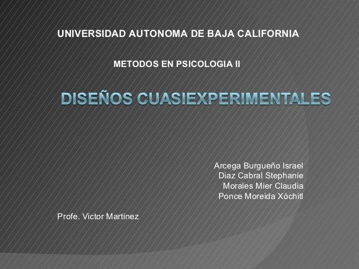 Arcega Burgueño Israel Diaz Cabral Stephanie Morales Mier Claudia Ponce Moreida Xóchitl Profe. Victor Martinez  UNIVERSIDA...