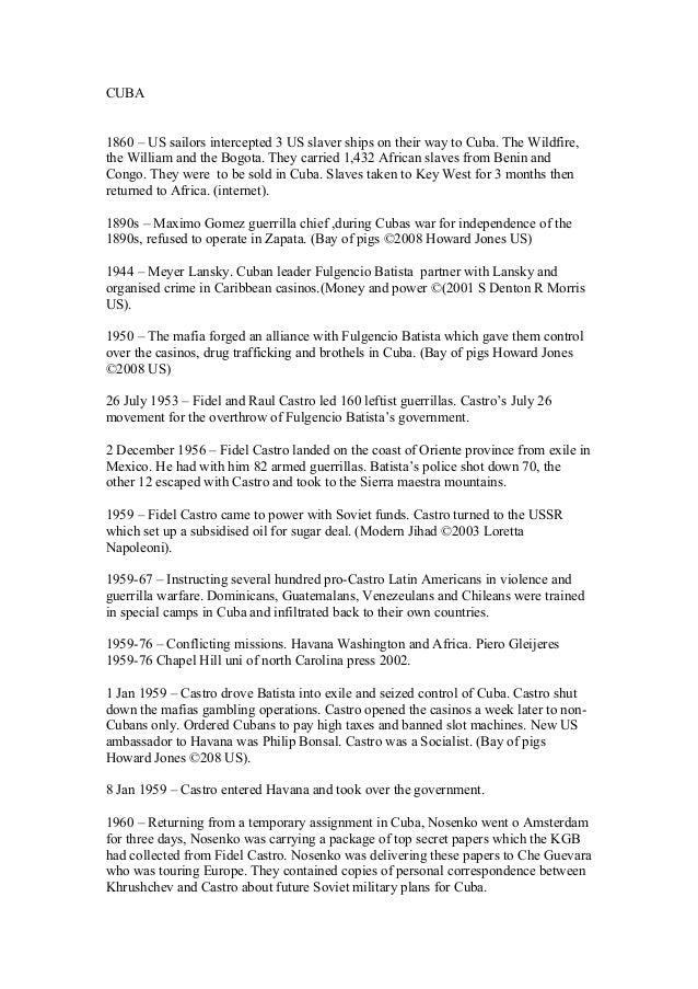 CUBA History timeline