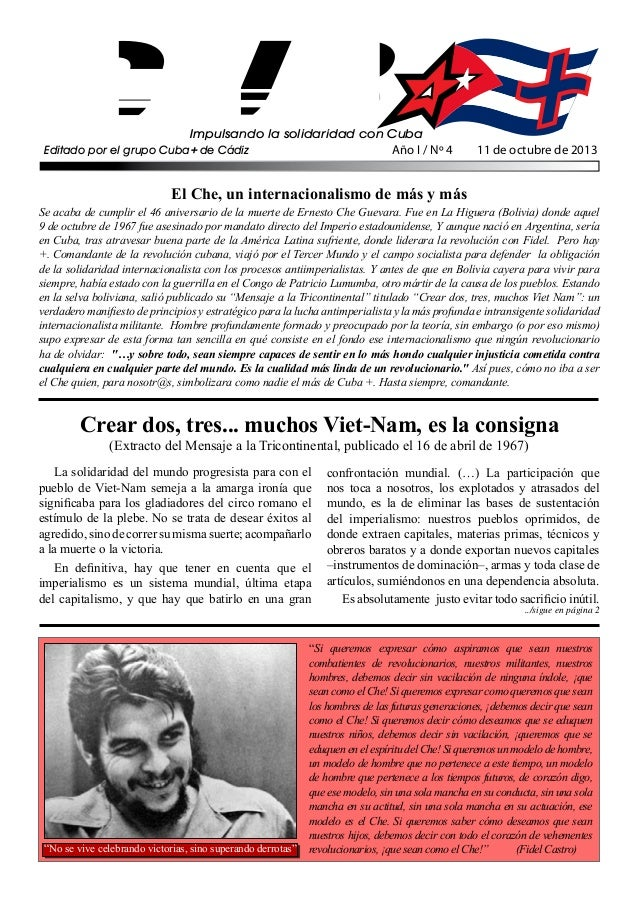 Impulsando la solidaridad con Cuba Editado por el grupo Cuba+ de Cádiz Crear dos, tres... muchos Viet-Nam, es la consigna ...
