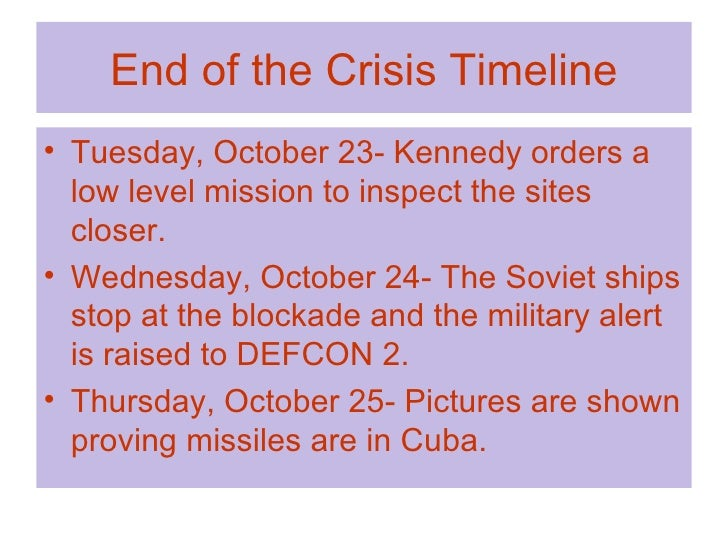 Cuban missile crisis timeline activity