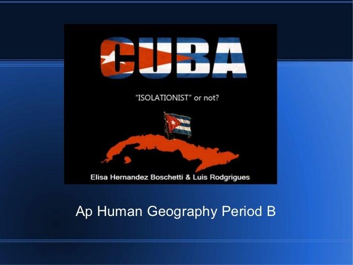 Ap Human Geography Period B