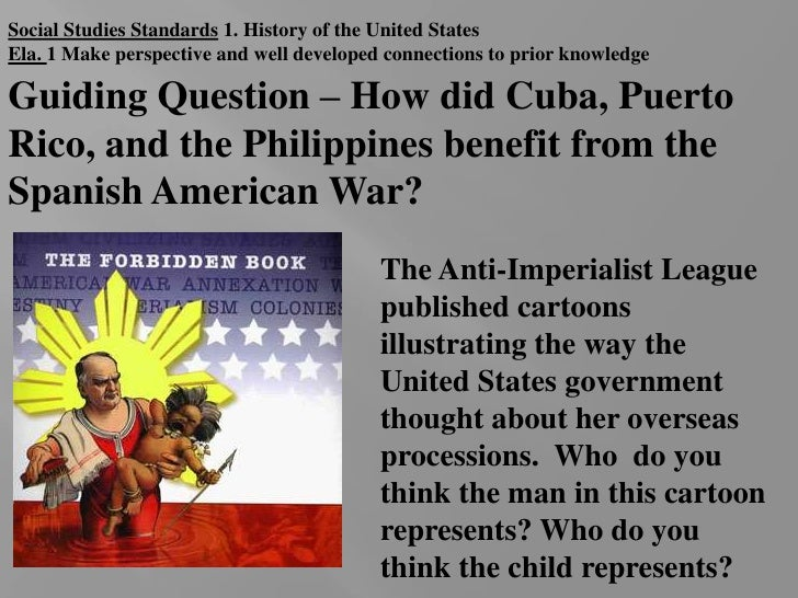 Social Studies Standards 1. History of the United States<br />Ela. 1 Make perspective and well developed connections to pr...