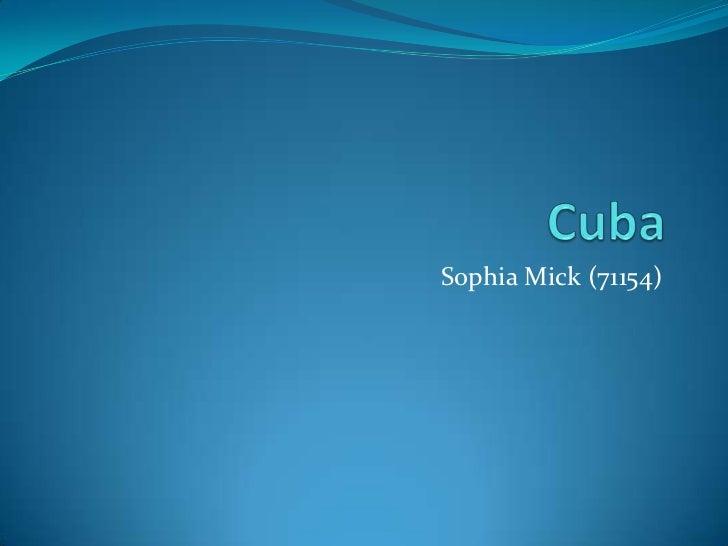 Cuba report