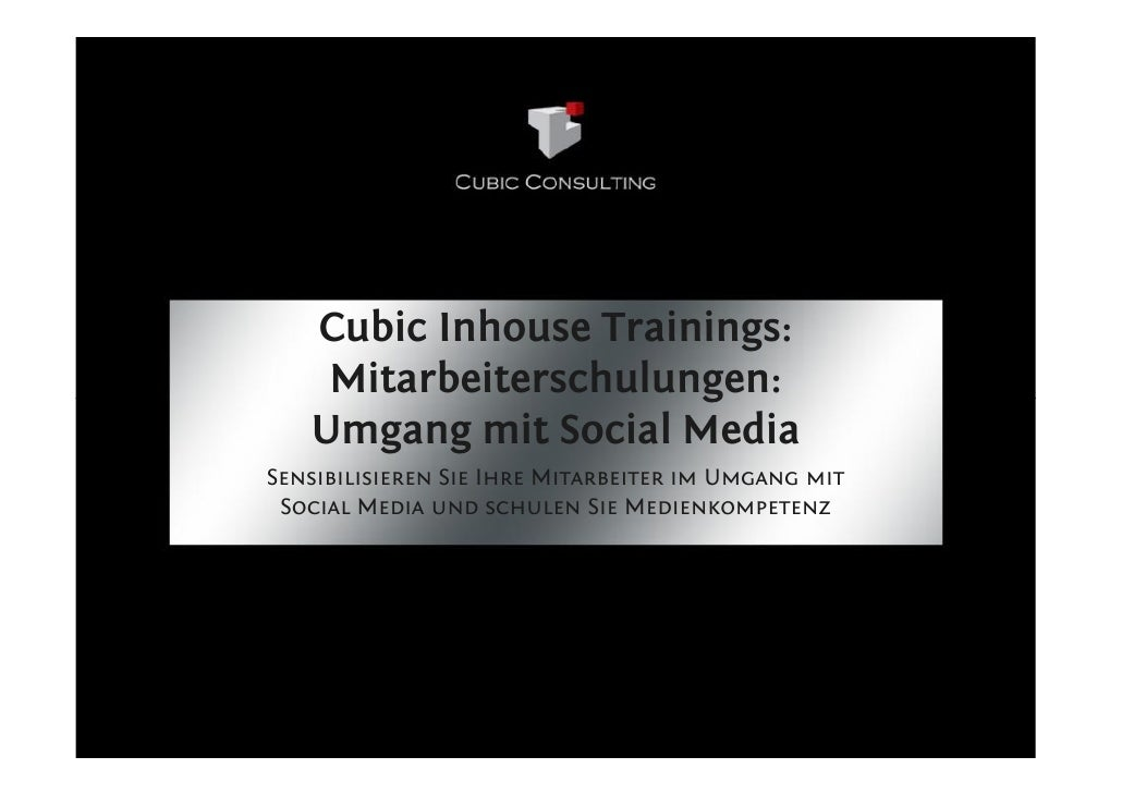 Cubic Consulting Social Media Mitarbeiterschulungen