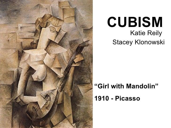 "CUBISM   Katie Reily    Stacey Klonowski "" Girl with Mandolin"" 1910 - Picasso"