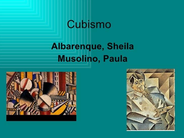 Cubismo Albarenque, Sheila Musolino, Paula