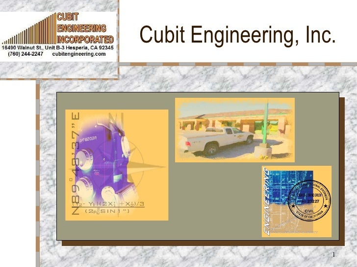 Cubit Engineering, Inc. Your Logo  Here