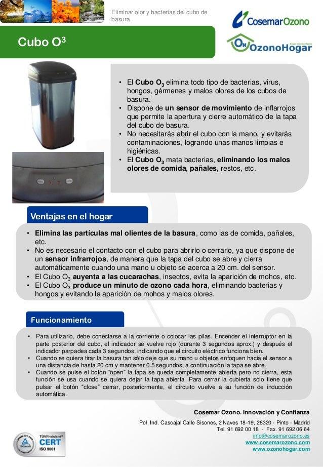 Eliminar olor y bacterias del cubo de                                  basura.Cubo O3                                     ...