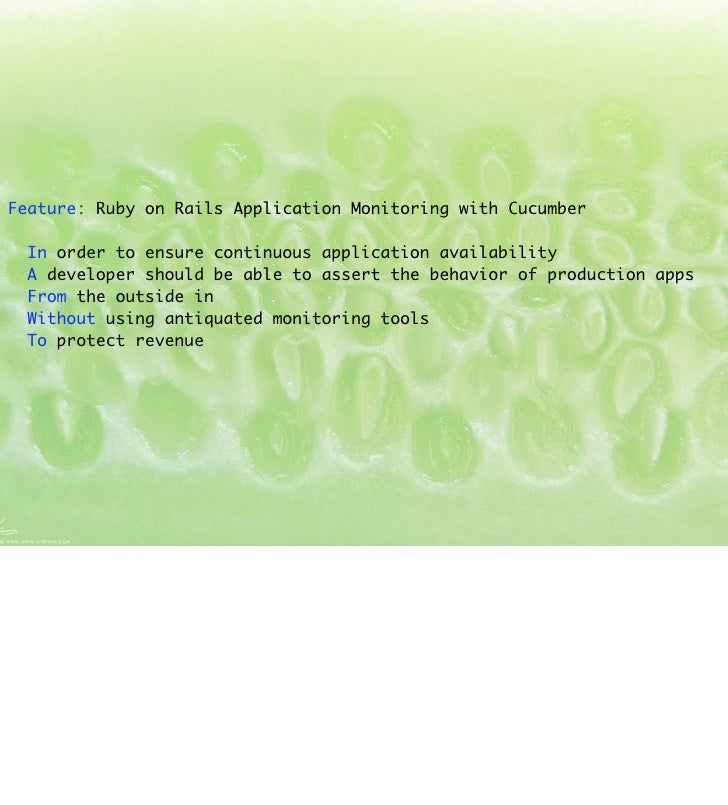Continuous (Production) Integration: Ruby on Rails Application Monitoring with Cucumber