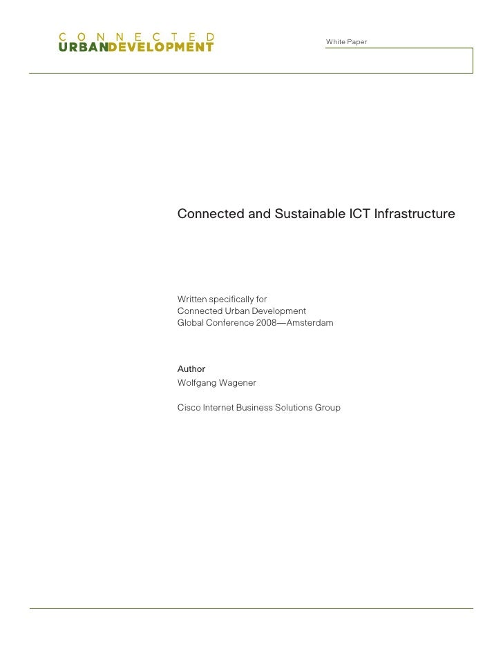 Connected and Sustainable ICT Infrastructure Whitepaper